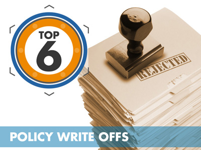 Top 6 Policy Write-Offs