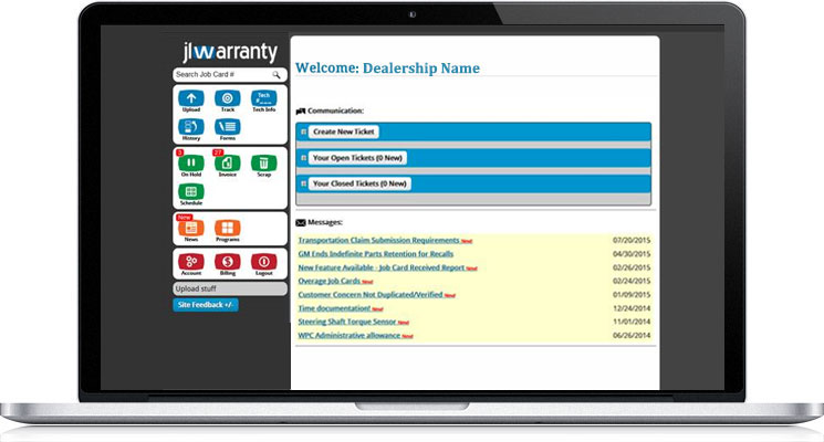 jlscan - Warranty Manager Website