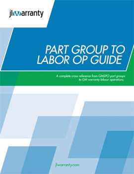 Part Group to Labor Op Guide