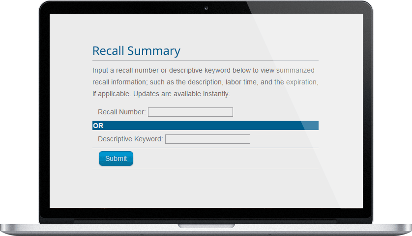 Recall Summary Online Version