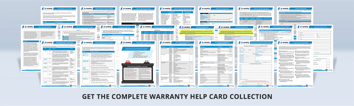 Complete Warranty Help Card Collection
