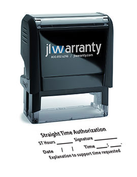 Straight Time Authorization Warranty Stamp
