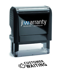 Customer Waiting Warranty Stamp