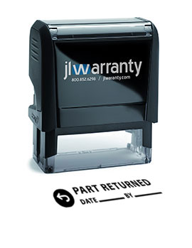 Part Returned Warranty Stamp