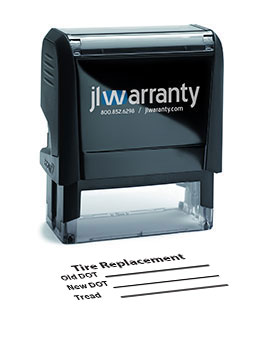 Tire Replacement Warranty Stamp
