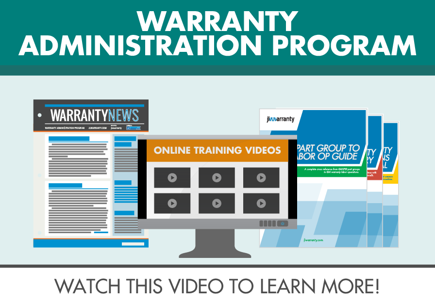 Warranty Administration Program Video