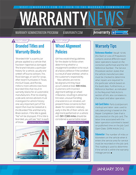 Warranty Newsletter