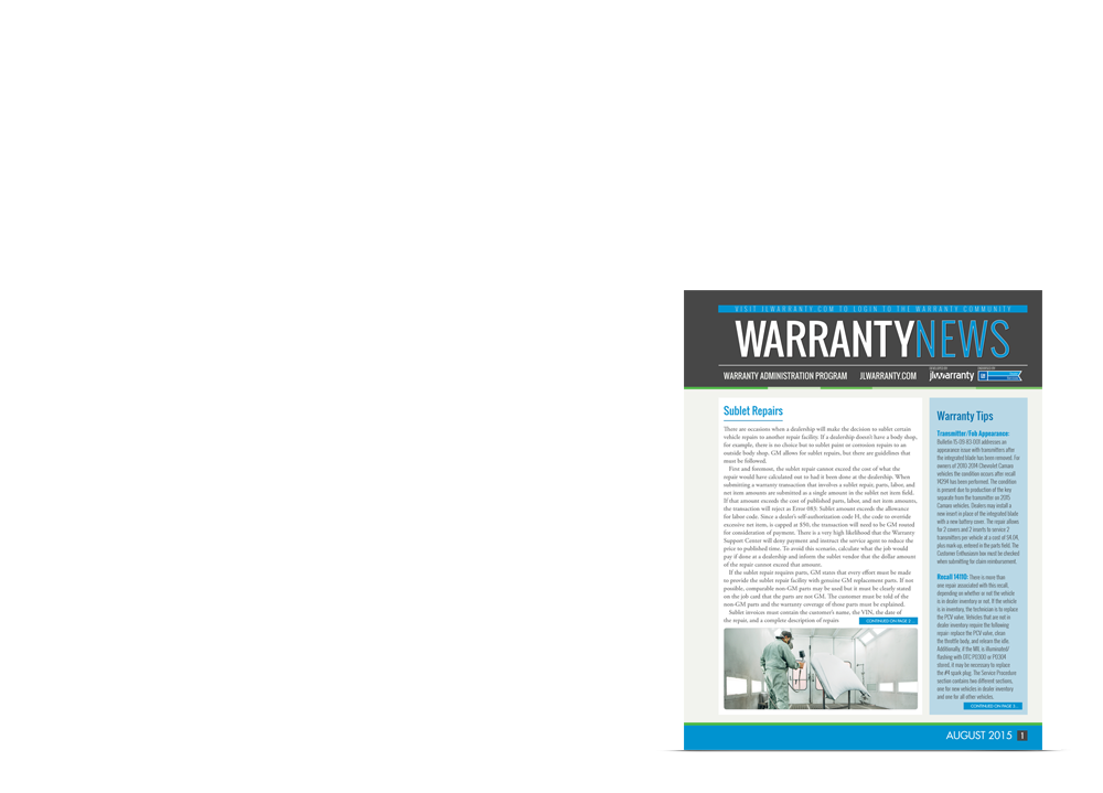 Read Warranty News in Print