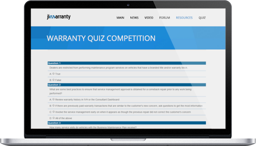 Warranty Quiz Competition