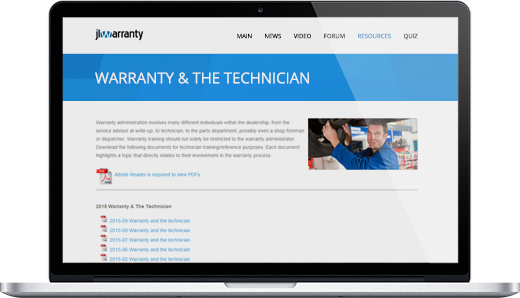 Warranty Training Documents